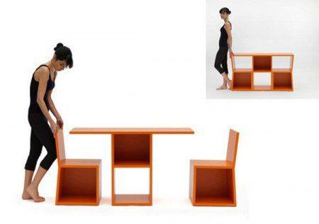 Система полок и стол в одном