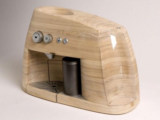 Стильный деревянный создатель эспрессо
