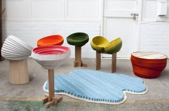 Забавная мебель в ярких красках