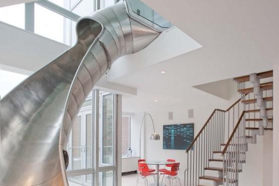 Двухуровневая квартира с необычной особенностью