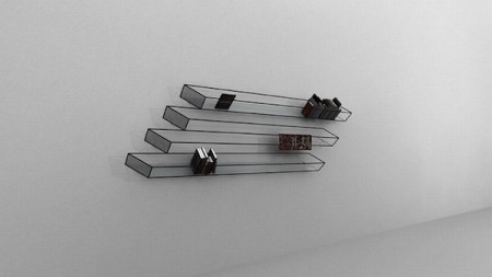 Книжная полка, выполненная в минималистском стиле