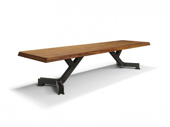 Стильные деревянные обеденные столы