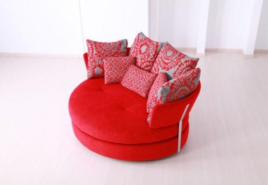 Стильный диван в форме яблока