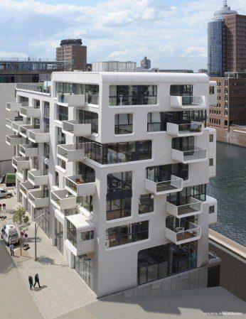 Впечатляющий жилой дом в Гамбурге
