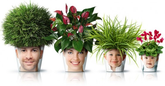 Забавные горшки для цветов
