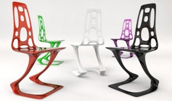 Красочные табуреты и стулья в стиле модерн