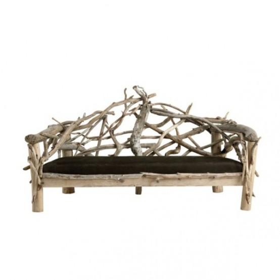 Мебель для вашего дома из необработанной древесины
