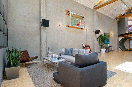 Просторные апартаменты с баскетбольной площадкой