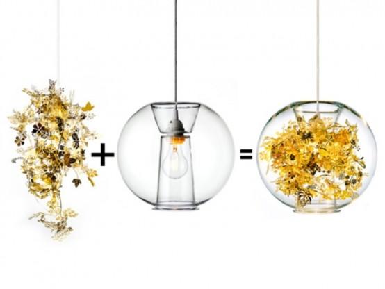 Нежная лампа, напоминающая экзотическую растительность