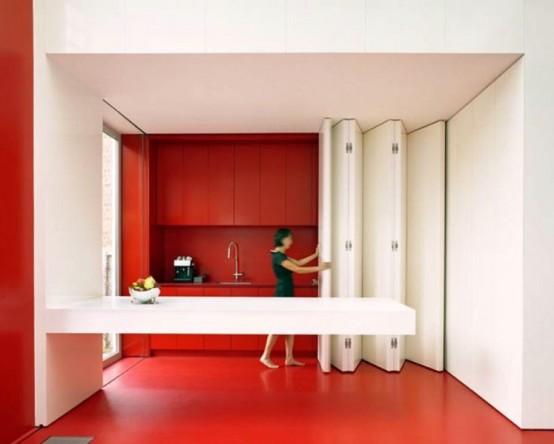 Кухня с откидной панелью