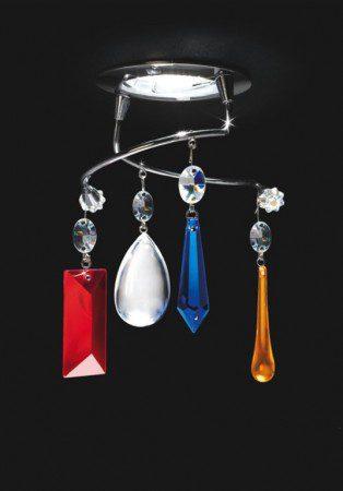 Лампа с подвесками из муранского стекла