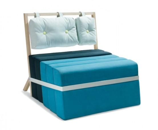 Минималистский предмет: кровать и кресло в одном