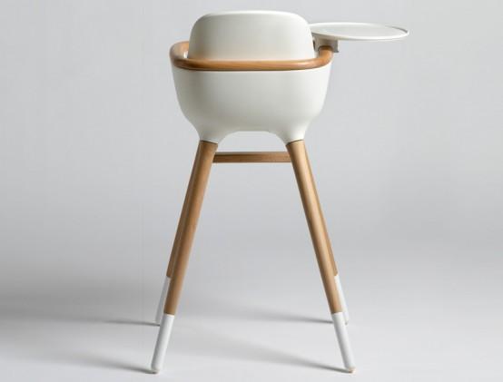 Минималистский стильный высокий стул для детей