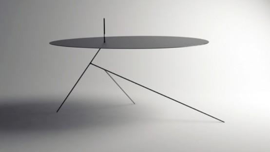 Ультратонкий черный стол