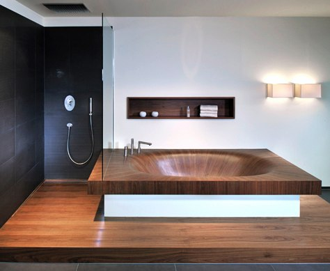 Великолепные деревянные ванны от Alegna