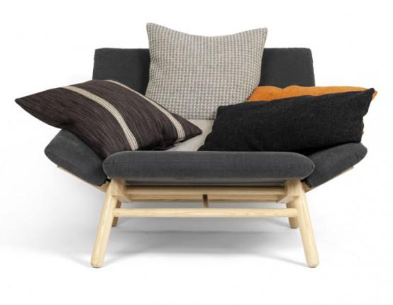 Удобный диван с подушками для компании K?llemo