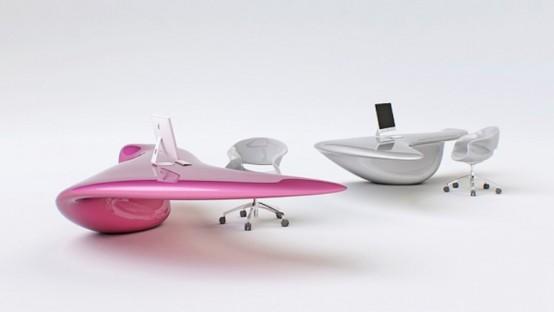 футуристический акриловый стол