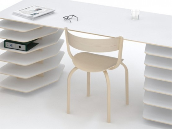 Проект Mathieu Lehanneur: минималистский стол и полки
