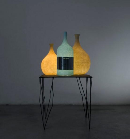Уникальная лампа - бутылка