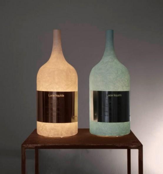 Лампа в форме бутылки