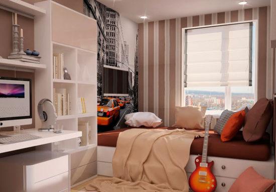 дизайн интерьера комнаты для молодого парня