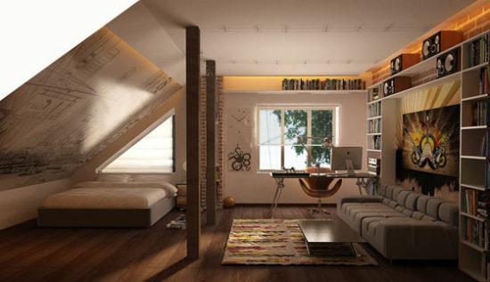 интерьер комнаты для юноши фото