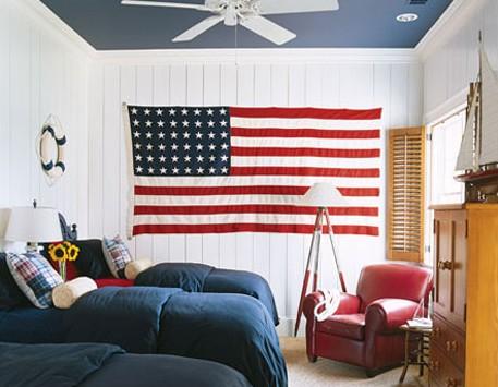 патриотическая комната для мальчика
