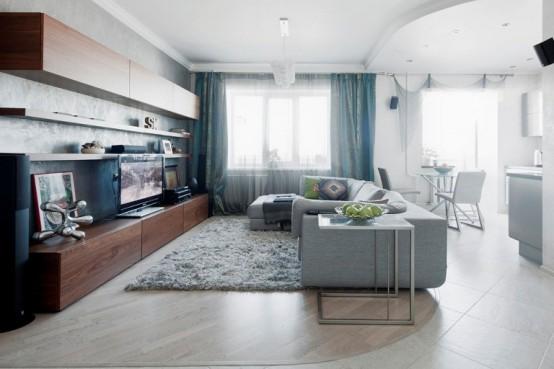 Современная квартира в светлых тонах 3