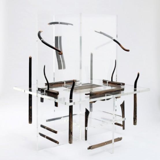 Сюрреалистическая мебель: китайские иероглифы