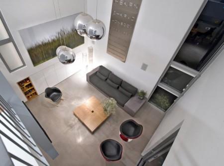 Дом из бетона с просторным интерьером в Израиле 5