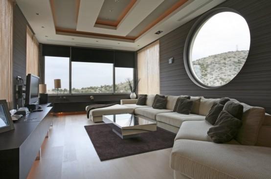 Футуристический дом, напоминающий космический корабль 3