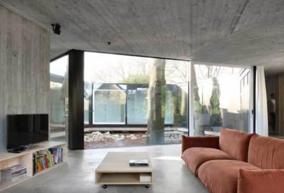 Круглый одноэтажный домик 4