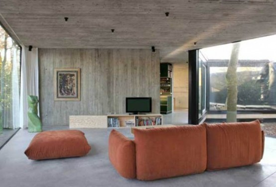 Круглый одноэтажный домик 5