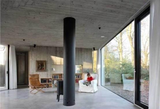 Круглый одноэтажный домик 7