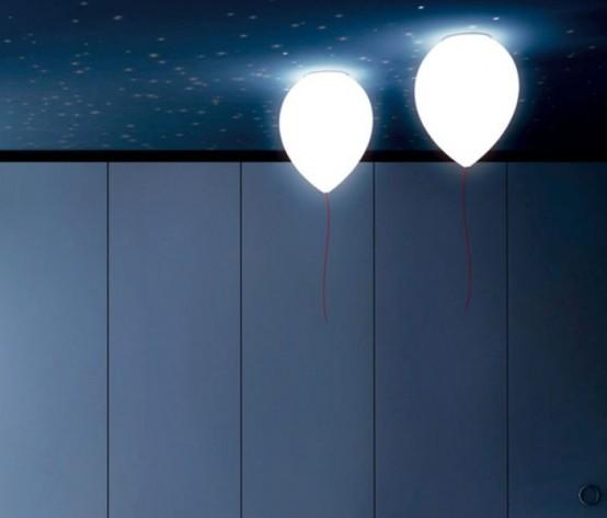 Простые лампы в форме воздушного шара