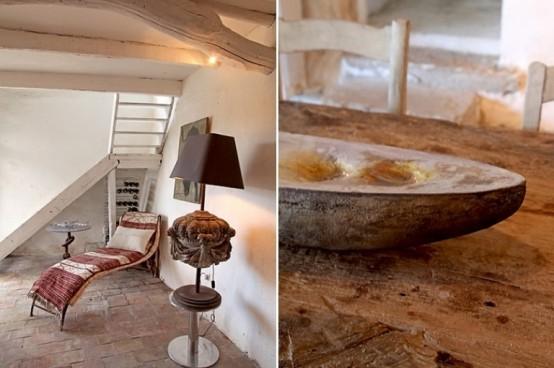 Уникальный дом из грубого дерева и камня 8