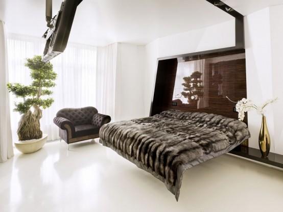 спальня квартиры в стиле минимализм