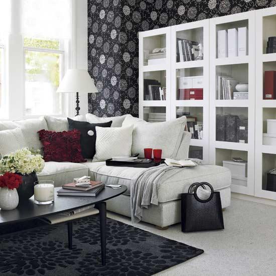 21 гостиная в черно-белом цвете 16