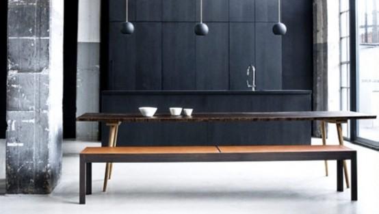Коллекция кухонной мебели в темных тонах 3