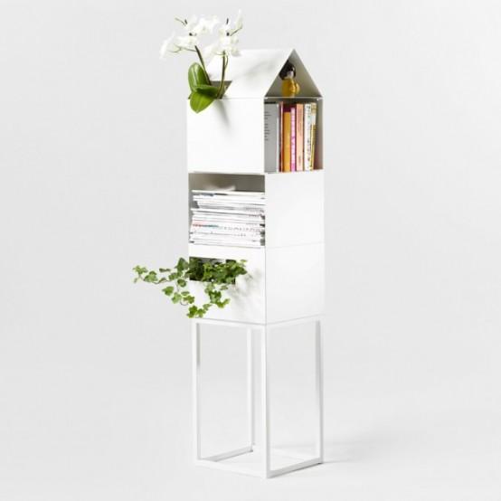 Модульные полки для книг и растений 2