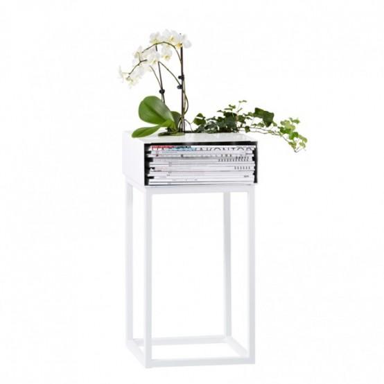Модульные полки для книг и растений 4