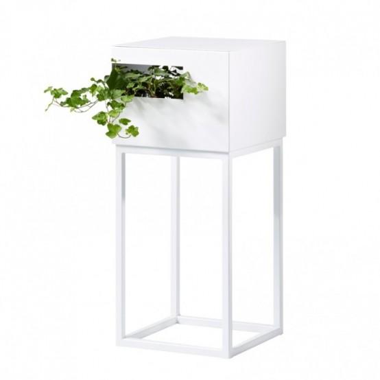 Модульные полки для книг и растений 5