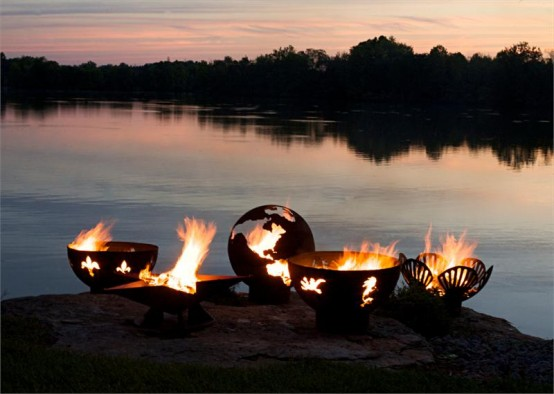 Впечатляющая огненная скульптура 5