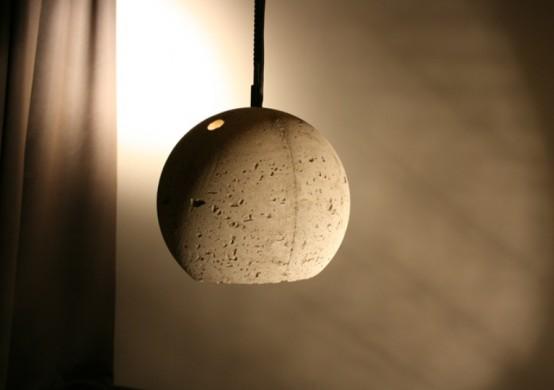 Бетонные подвесные светильники