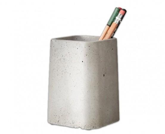 Коллекция настольных аксессуаров из бетона