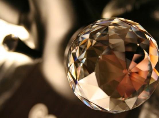 Гламурный смеситель с кристаллами Swarovski