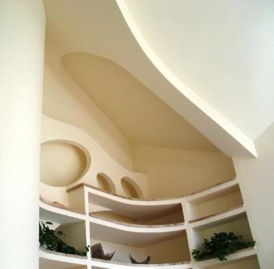 Польская резиденция с необычными архитектурами особенностями