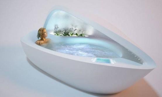 Роскошная ванна SPA со всем, что нужно для отдыха