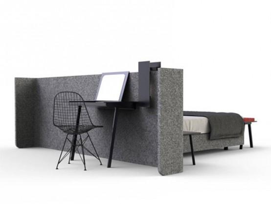 Кровать для создания комнаты без комнаты