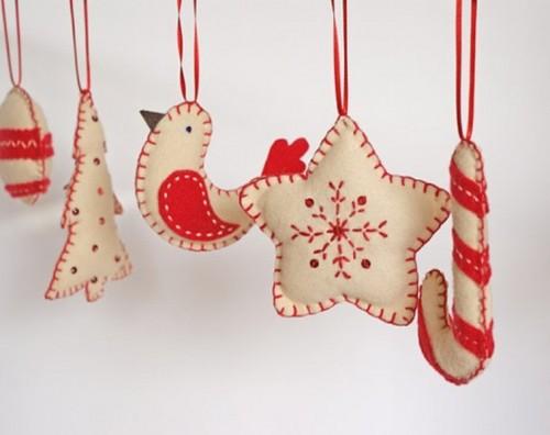 26 оригинальных рождественских украшений из войлока